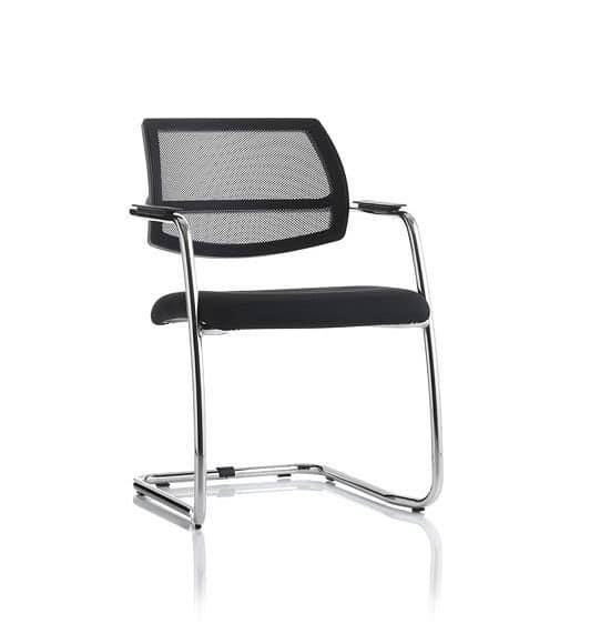 Sedia visitatore con struttura in metallo per sala attesa for Amazon sedie ufficio