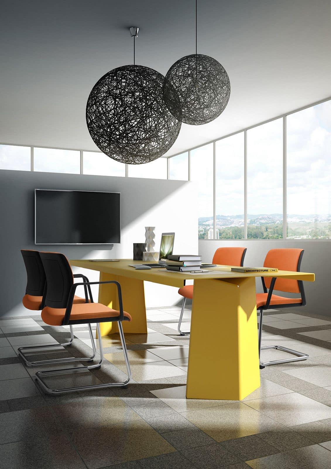 Visitatore ufficio con seduta imbottita e schienale in for Amazon sedie ufficio