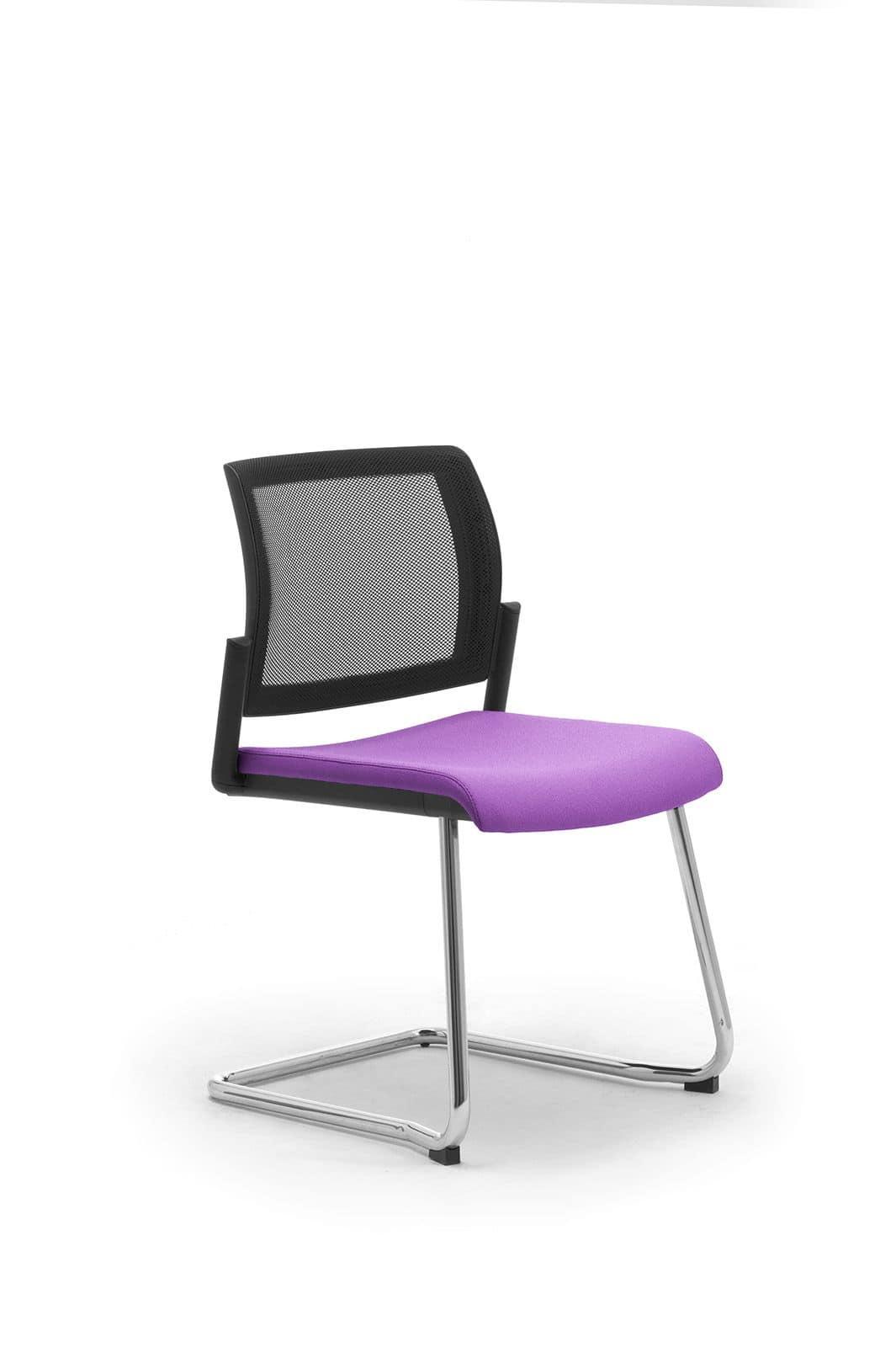 Visitatore ufficio con seduta imbottita e schienale in for Sedie ufficio design milano