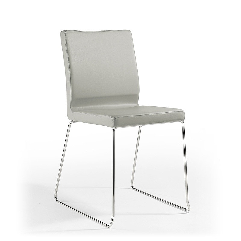 Sedia visitatore in pelle e gomma per sala attesa for Design moderno per sala d attesa per ufficio