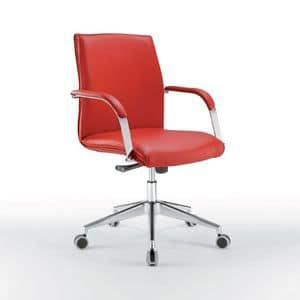 Araiss bassa, Sedia ufficio con schienale basso, base in metallo