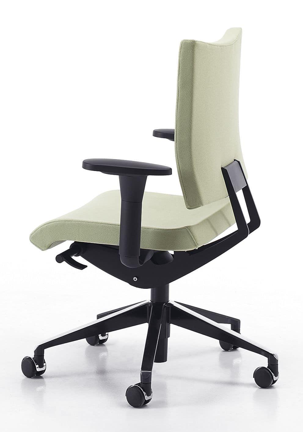 Sedia operativa con braccioli, traslatore di seduta  IDFdesign
