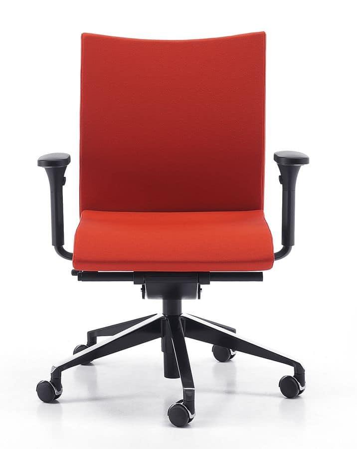 Sedia operativa con ruote supporto lombare regolabile for Amazon sedie ufficio