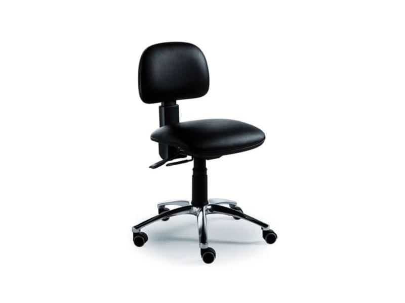 Sedie Da Ufficio Con Braccioli Senza Ruote : Sedia operativa per ufficio senza braccioli imbottita idfdesign