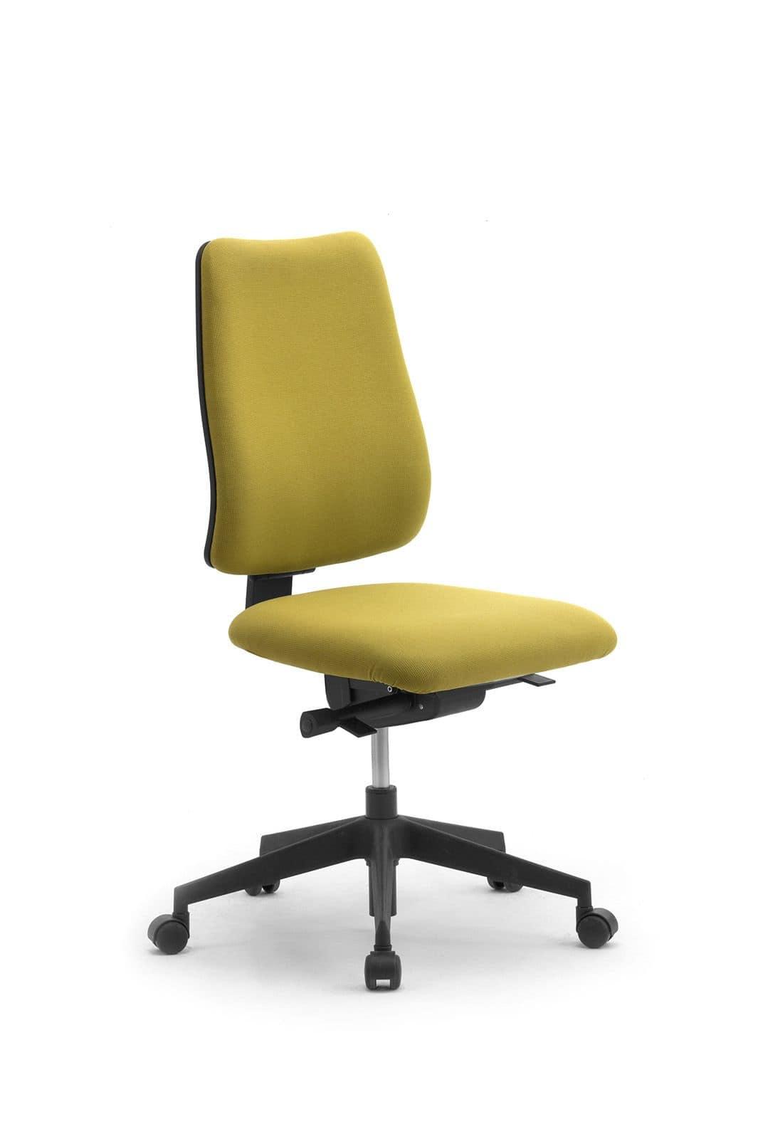 Sedia operativa da ufficio senza braccioli idfdesign for Sedia da ufficio amazon