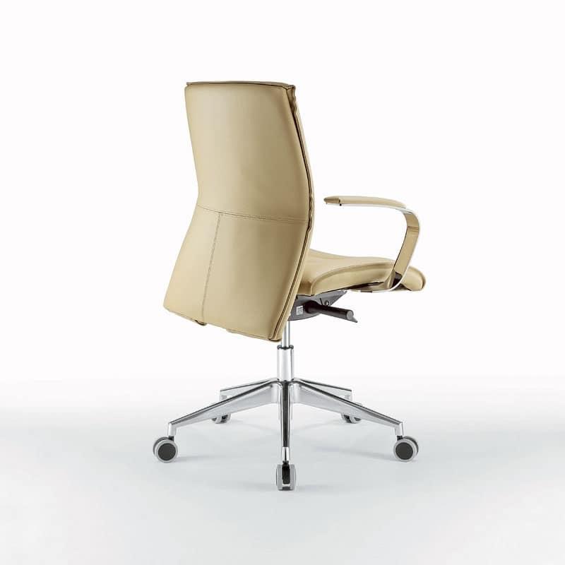 Sedia ufficio operativa in metallo cromato con ruote for Amazon sedie ufficio