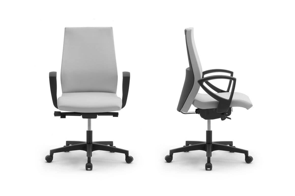 Sedia per ufficio con imbottitura in poliuretano idfdesign for Sedie ufficio design