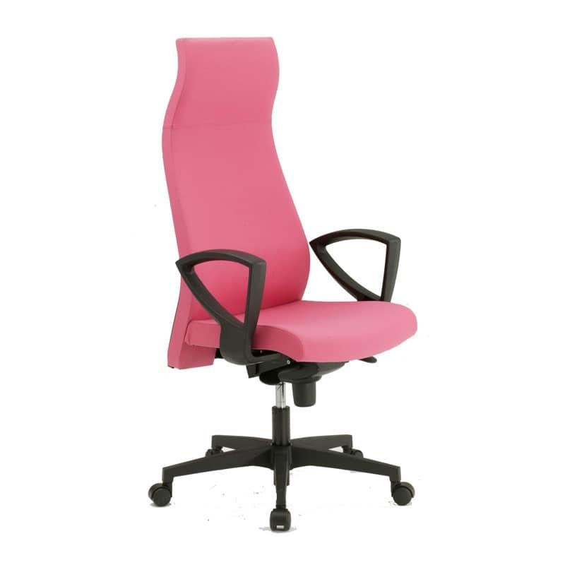 Sedia per ufficio con supporto lombare con ruote idfdesign for Sedia ufficio ruote