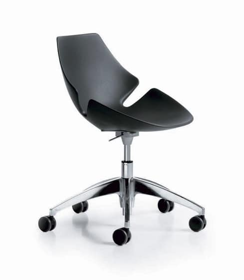 Sedia regolabile in altezza in poliuretano rigido idfdesign for Fenice design sedie ufficio