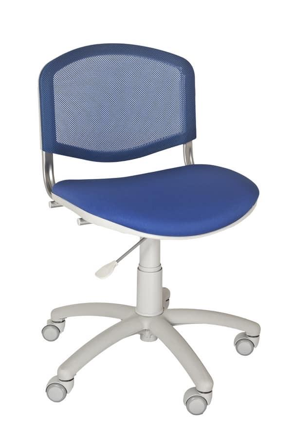 Sedia per cameretta o homeoffice, con schienale in rete | IDFdesign