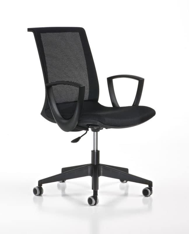 Sedia operativa regolabile con ruote per uffici moderni for Amazon sedie ufficio