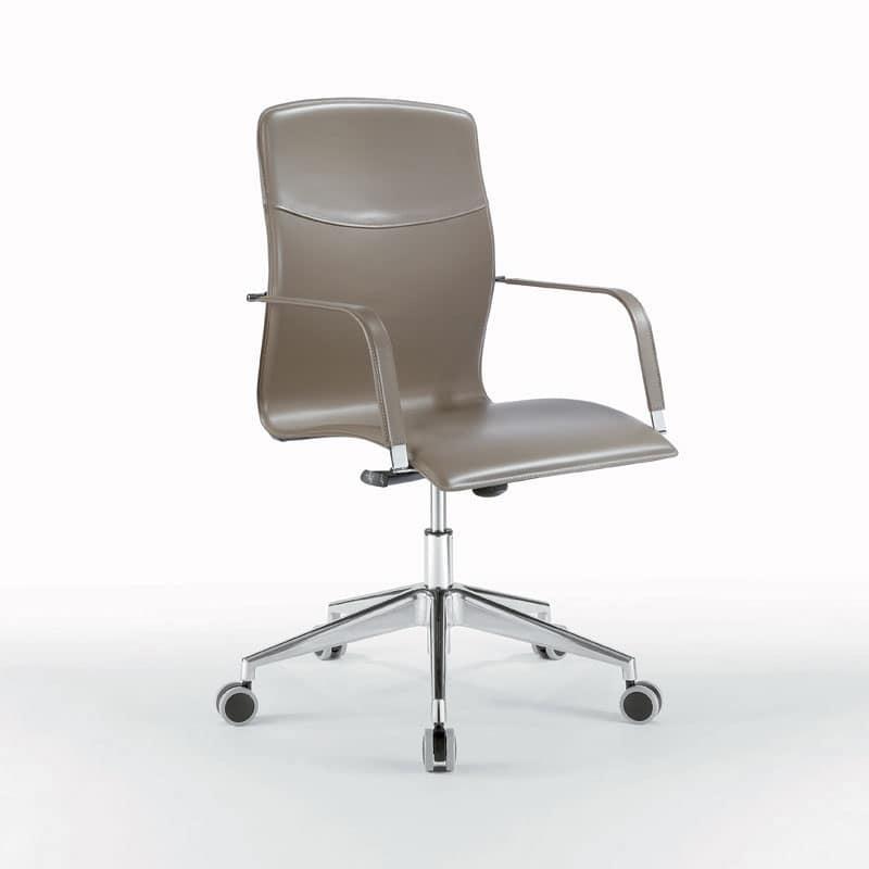 Sedia operativa su ruote per studio professionale idfdesign for Sedie ufficio design