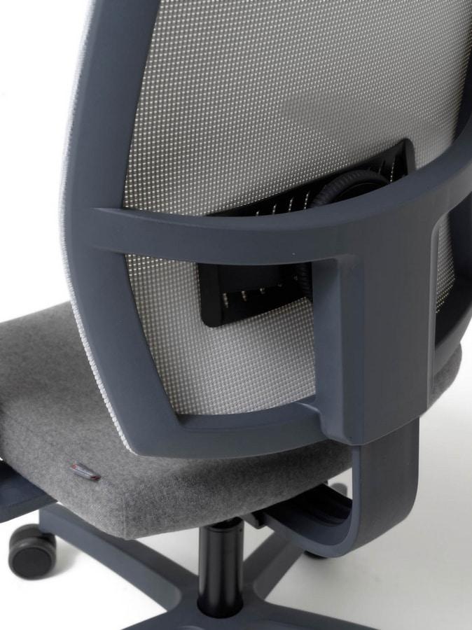 Lead rete, Sedia ergonomica con schienale in rete