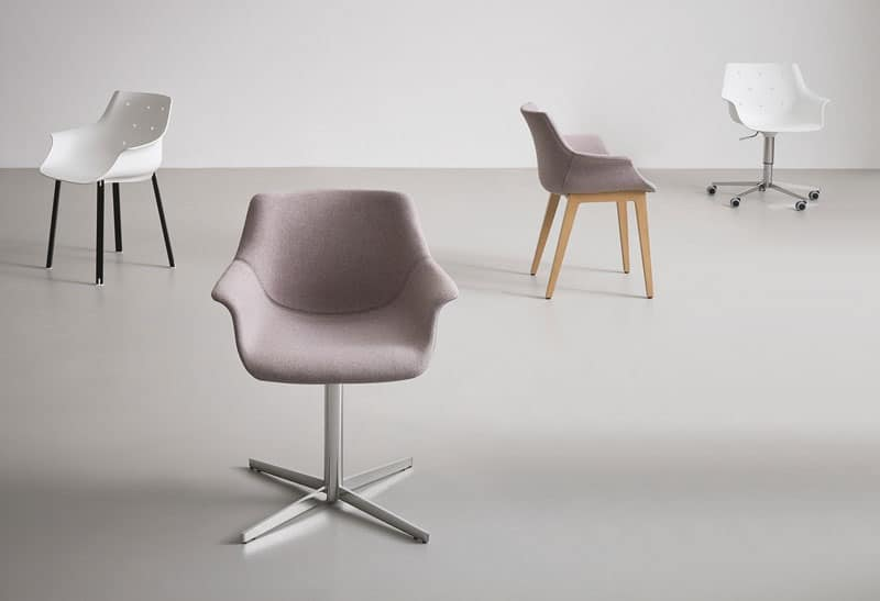 Sedia design regolabile con ruote scocca in for Sedia design amazon