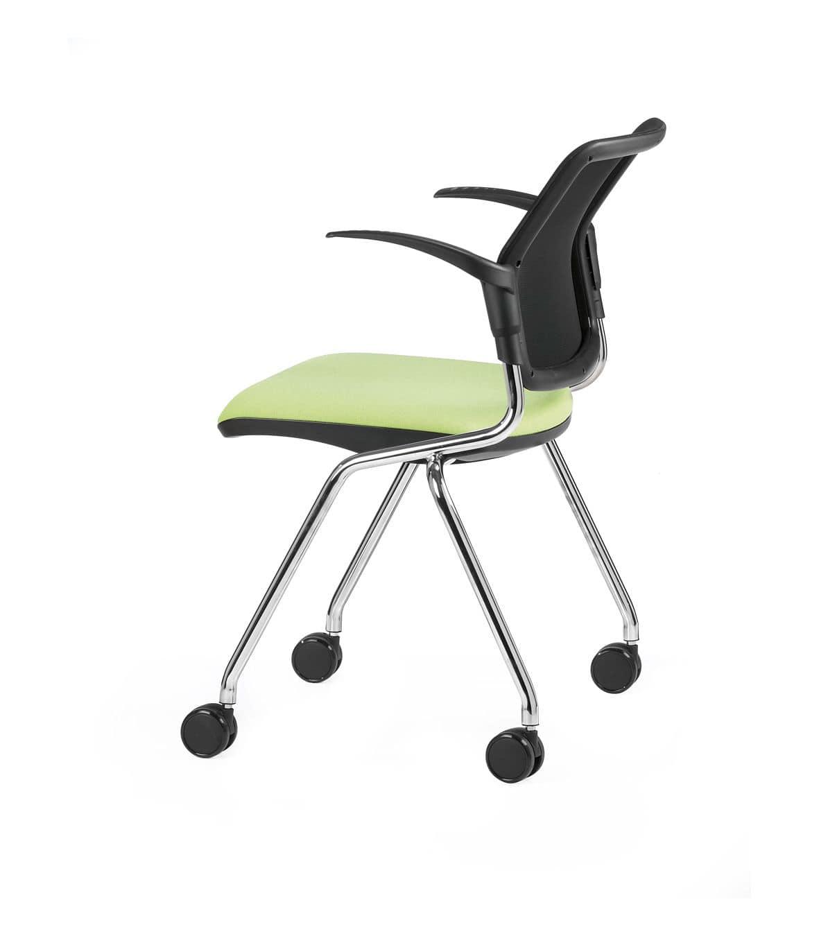 Sedia con ruote e braccioli ideale per uffici operativi | IDFdesign