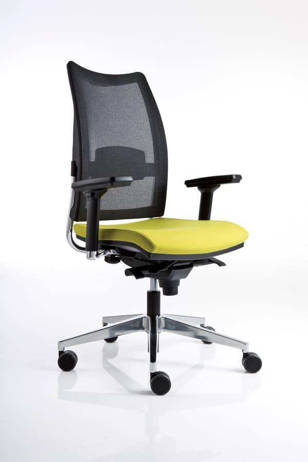 sedia operativa da ufficio schienale in rete idfdesign