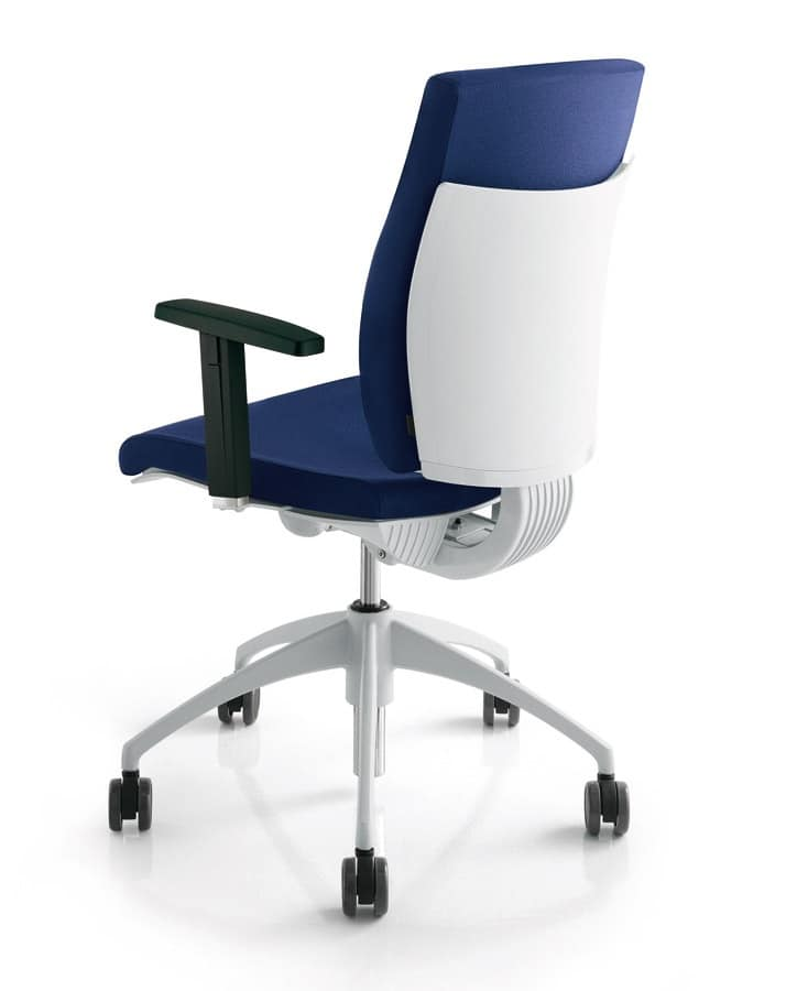 Sedia operativa imbottita per uffici e reception idfdesign for Negozi sedie ufficio
