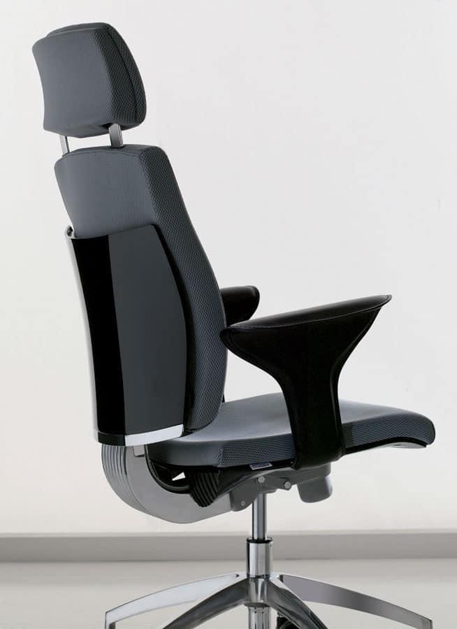 Sedia operativa per ufficio con supporto lombare for Negozi sedie ufficio