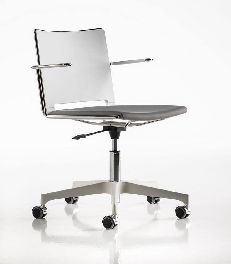 Sedia su ruote ideale per sale riunioni e per camerette | IDFdesign