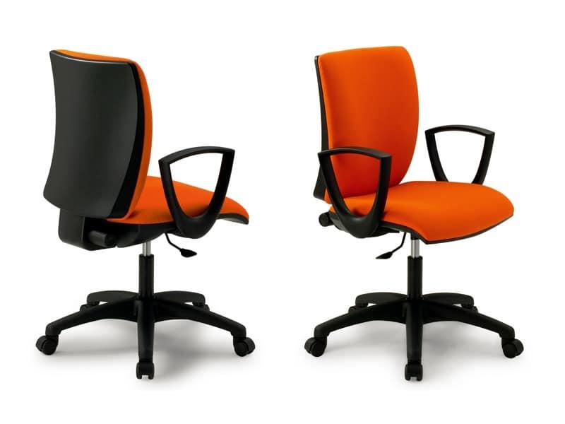 Sedie Da Ufficio Con Braccioli Senza Ruote : Sedia operativa per ufficio con braccioli varie rifiniture