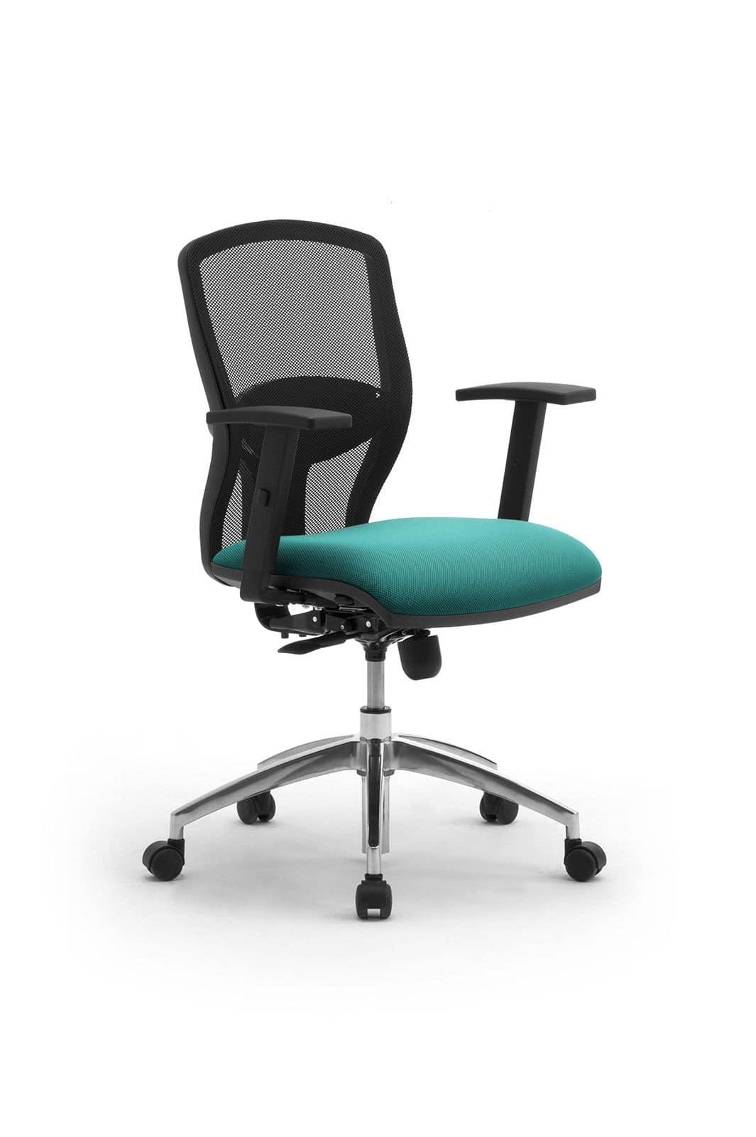 Sedia per ufficio con braccioli e schienale in rete for Sedie ufficio