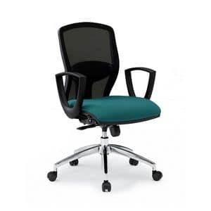 Sprint RE 179282R, Sedia per ufficio con seduta imbottita e schienale in rete
