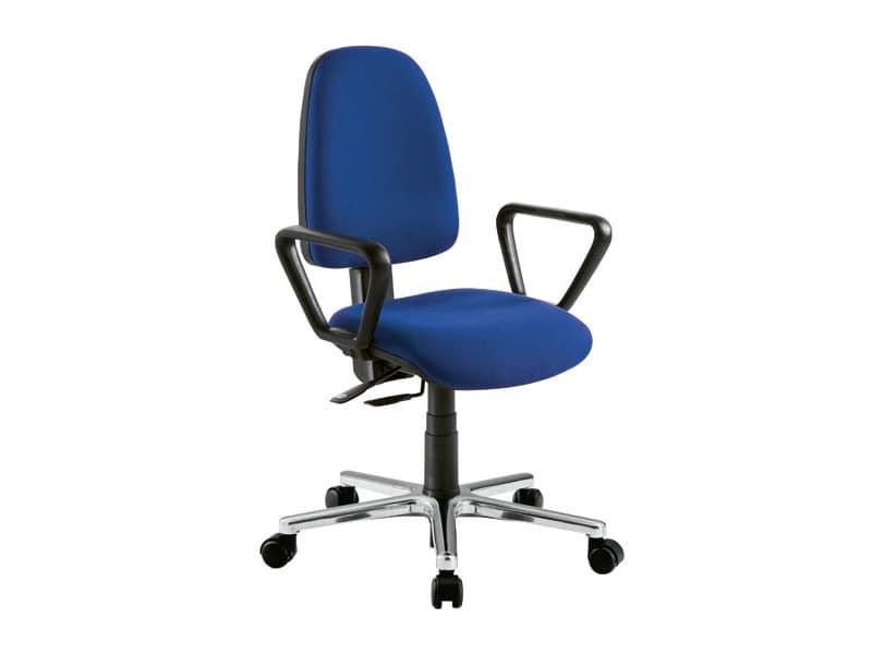 Sedia operativa per ufficio con schienale alto idfdesign for Sedia design scrivania