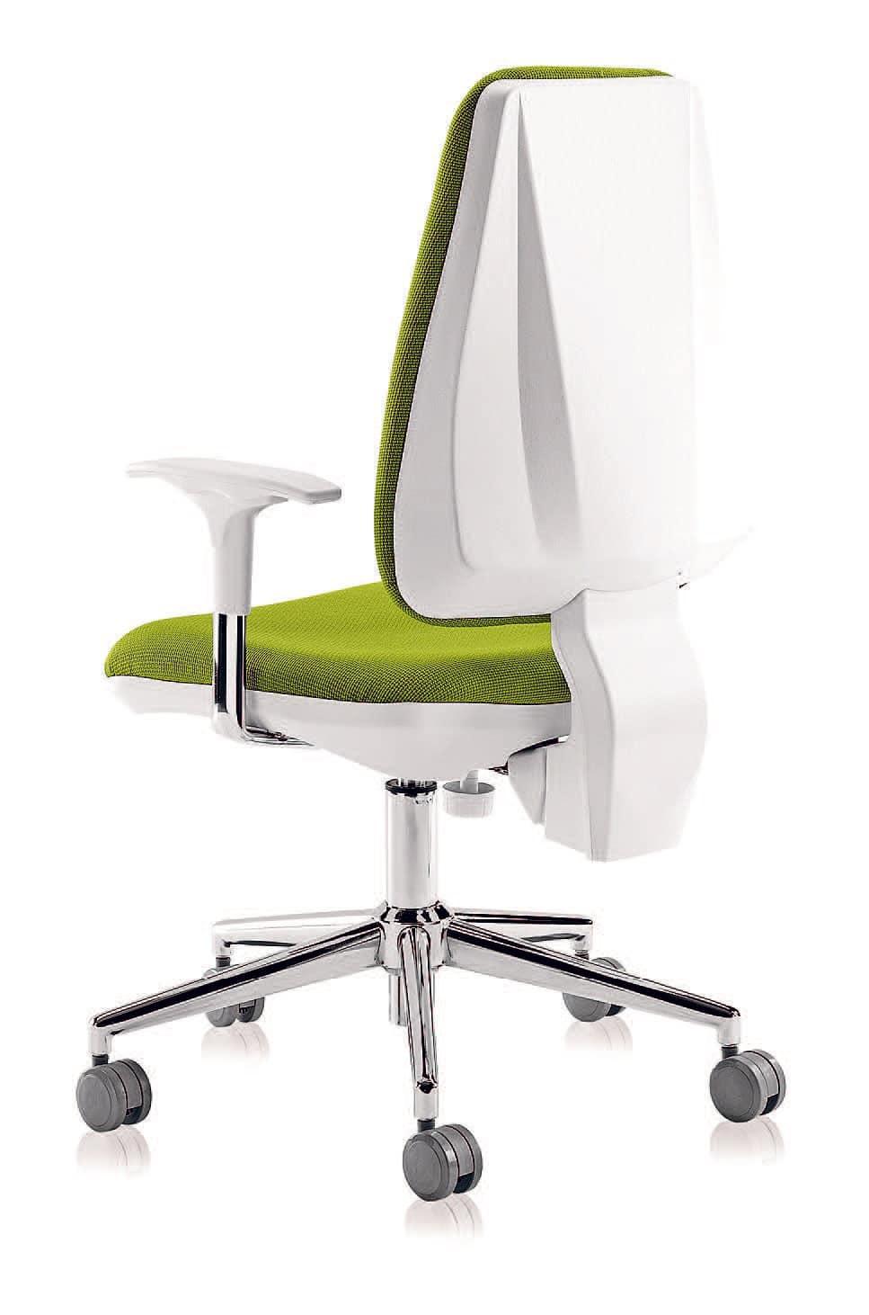 Sedia ergonomica per ufficio con alzata a gas idfdesign for Sedie ufficio design