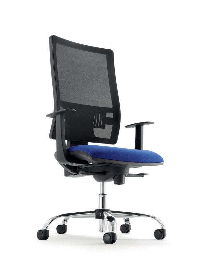 Sedia operativa con sistema up & down, per ufficio | IDFdesign