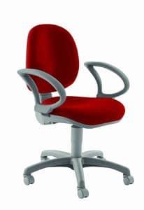 WING, Sedia ergonomica con braccioli, per ufficio