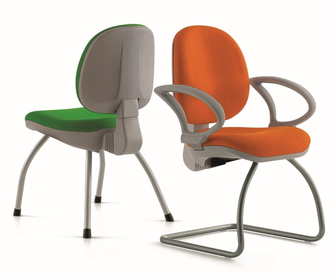 Sedia ergonomica con braccioli, per ufficio  IDFdesign