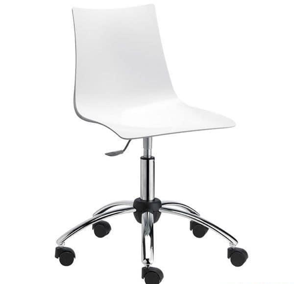 Sedia per ufficio girevole e regolabile seduta in for Sedia ufficio ruote