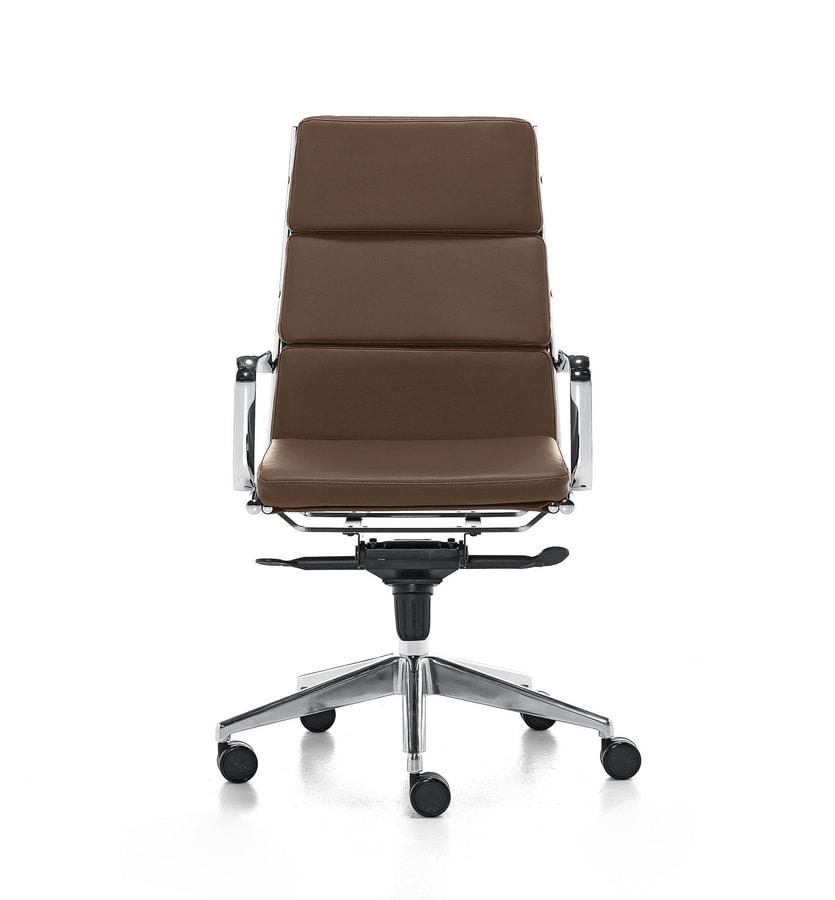 Sedia direzionale con schienale alto per ufficio idfdesign for Amazon sedie ufficio