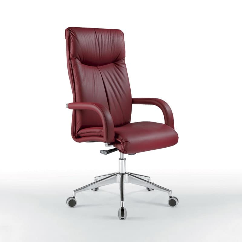 Sedia presidenziale con soffice imbottitura per uffici for Fenice design sedie ufficio