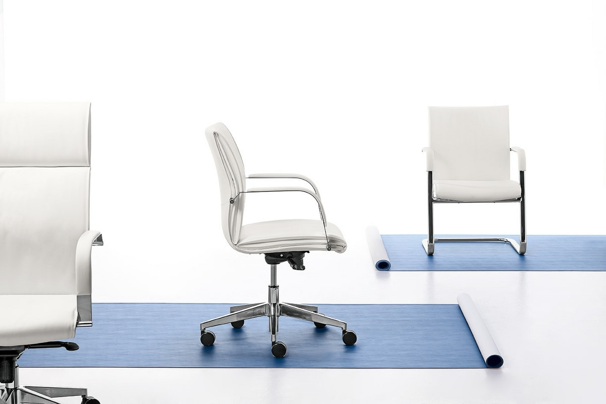 Berlin 01, Sedia direzionale con schienale alto, per ufficio