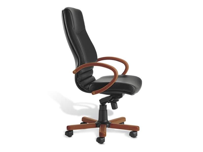 Digital WD 01, Sedia direzionale con schienale alto, imbottita, per ufficio