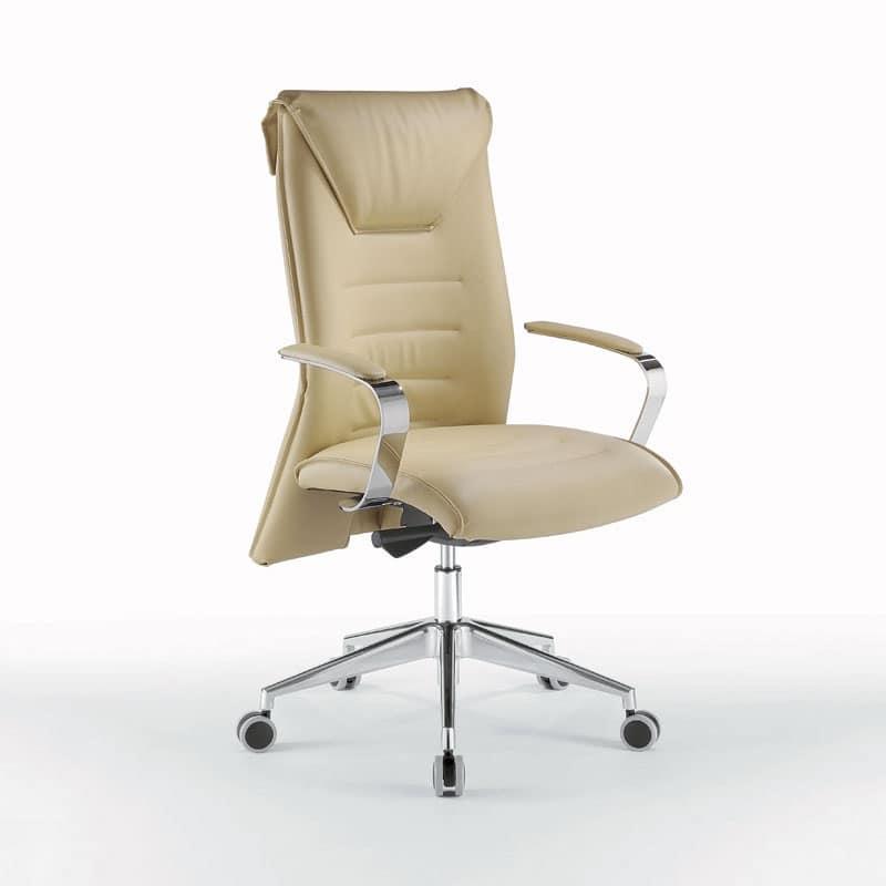 Sedia elegante con braccioli per studio professionale for Sedia ufficio alta