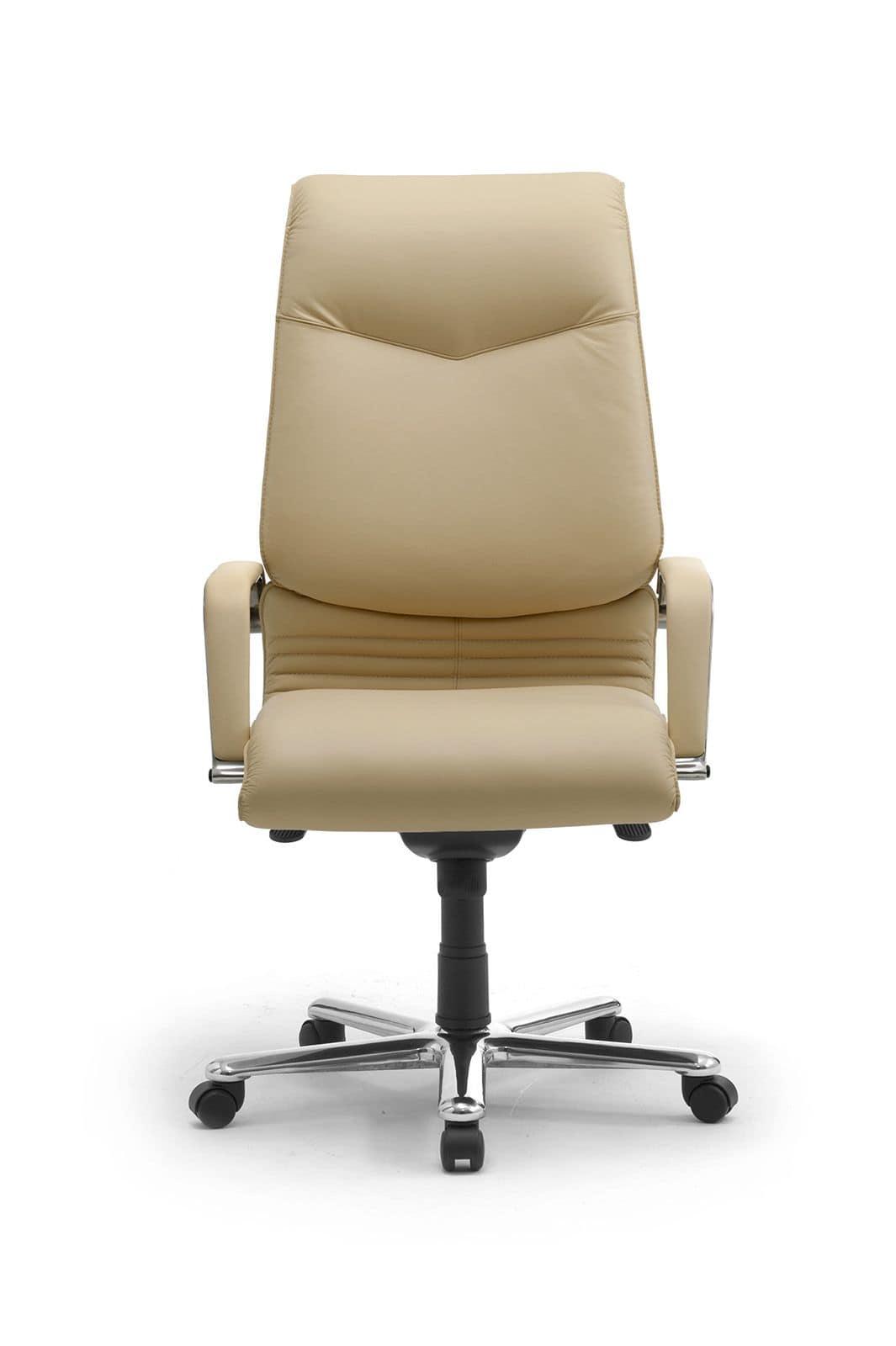 Poltrona presidenziale per ufficio imbottita in pelle for Amazon sedie ufficio