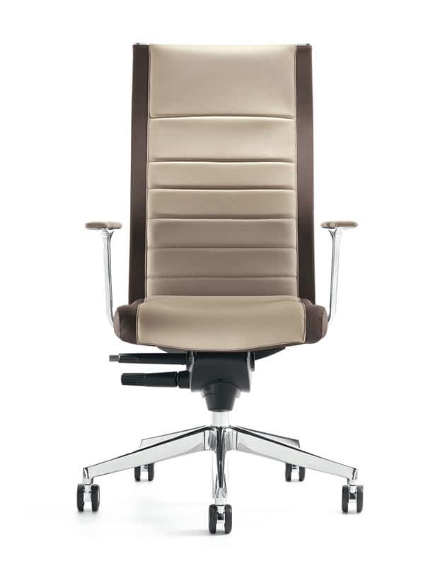 Sedia manageriale con schienale alto per uffici idfdesign for Amazon sedie ufficio