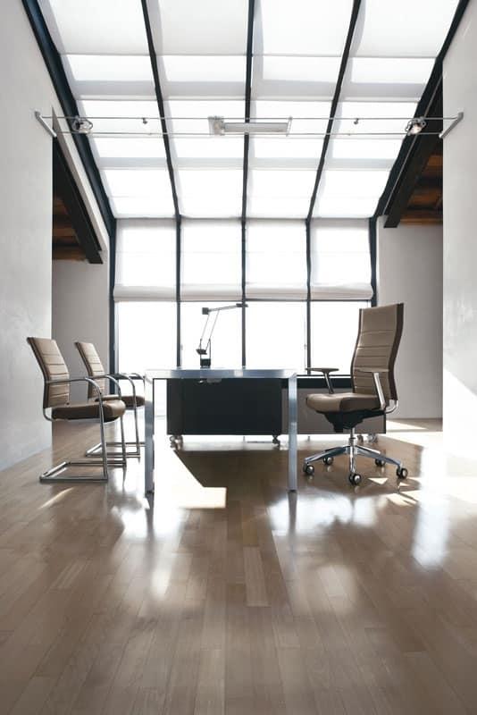 Sedia manageriale con schienale alto per uffici idfdesign for Fenice design sedie ufficio