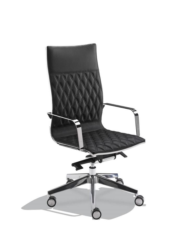 sedia con schienale alto per studio professionale idfdesign