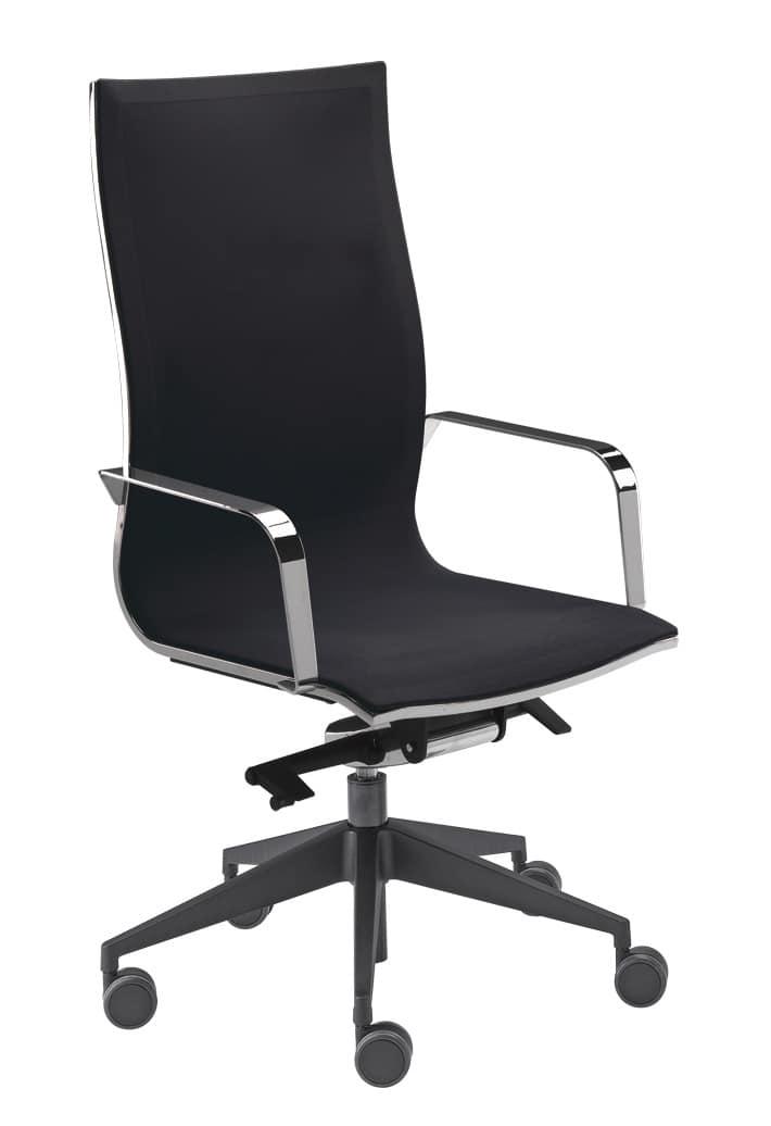 Sedia girevole schienale alto sistema knee tilt for Sedie ufficio