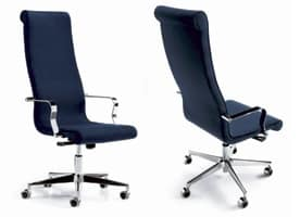 Sedia dirigenziale con schienale alto per reception idfdesign