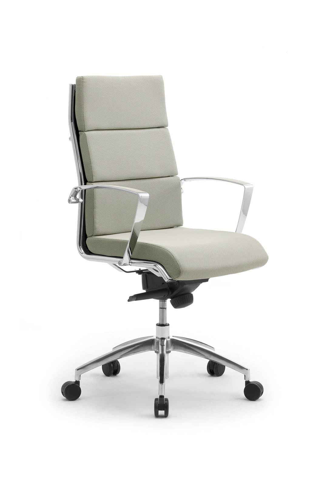 Origami CU presidenziale 70410, Sedia presidenziale per ufficio, in alluminio cromato