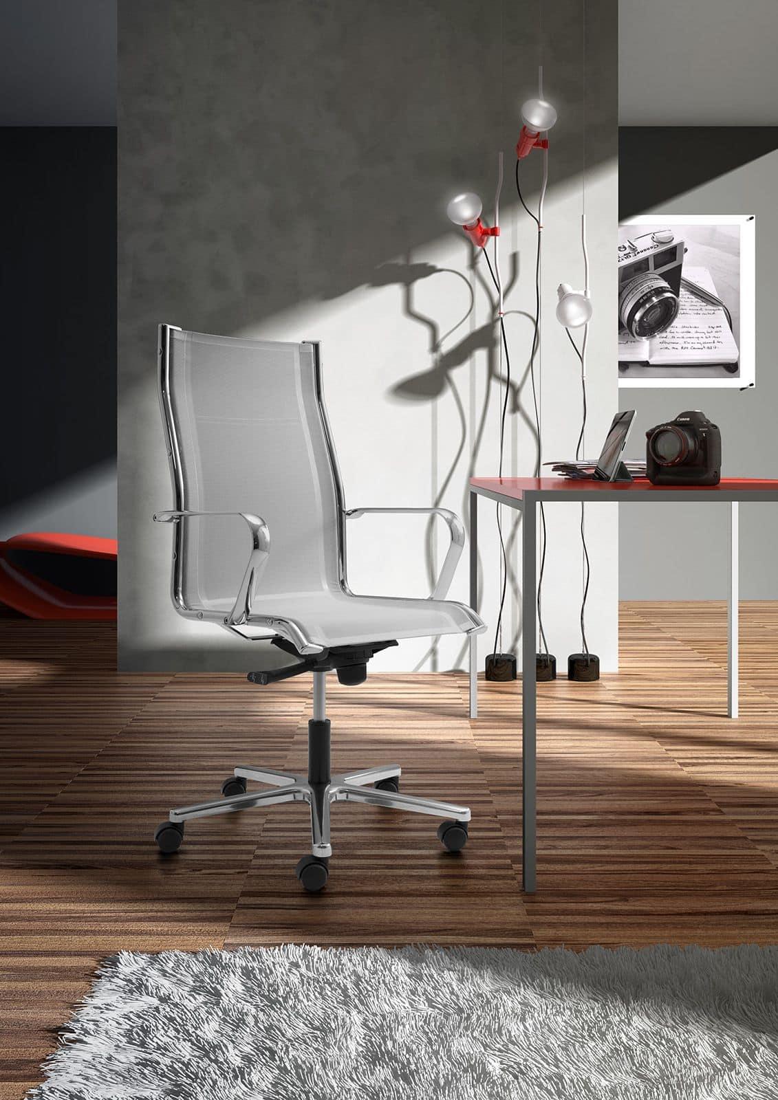 Origami RE presidenziale 70211, Poltrona per ufficio con sedia e schienale in rete
