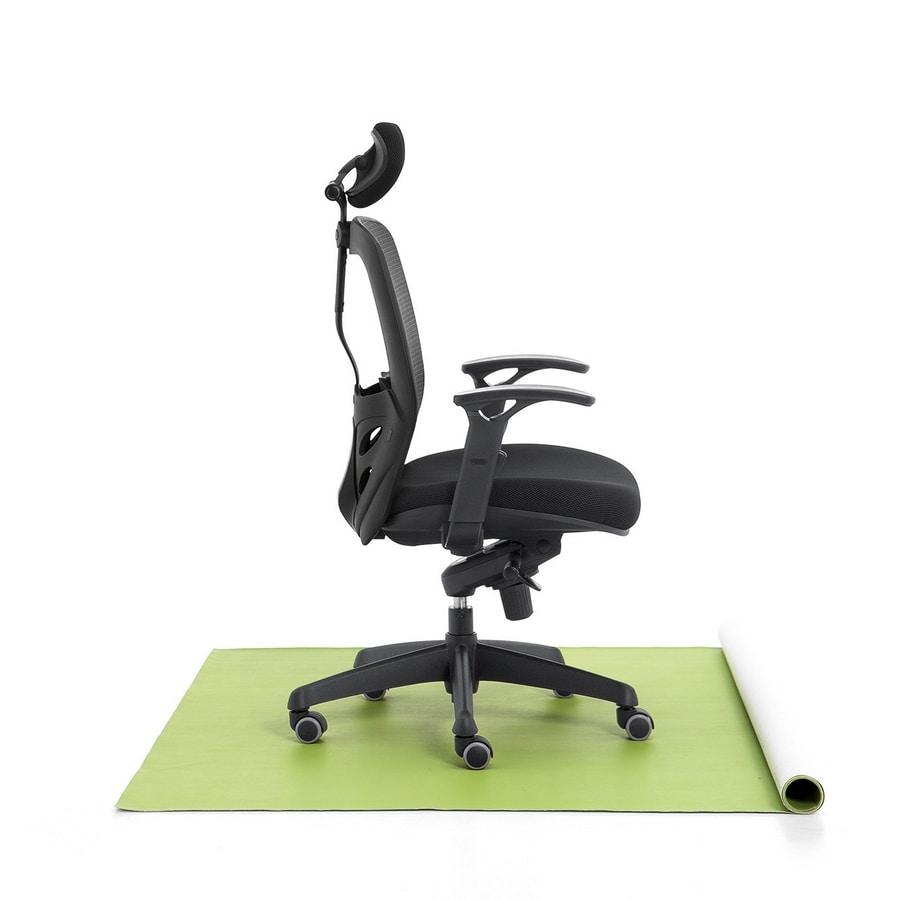 Tempo 01, Sedia per ufficio, seduta imbottita, schienale a rete