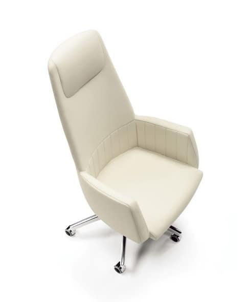 Sedie regolabili rivestimento in pelle per ufficio for Negozi sedie ufficio