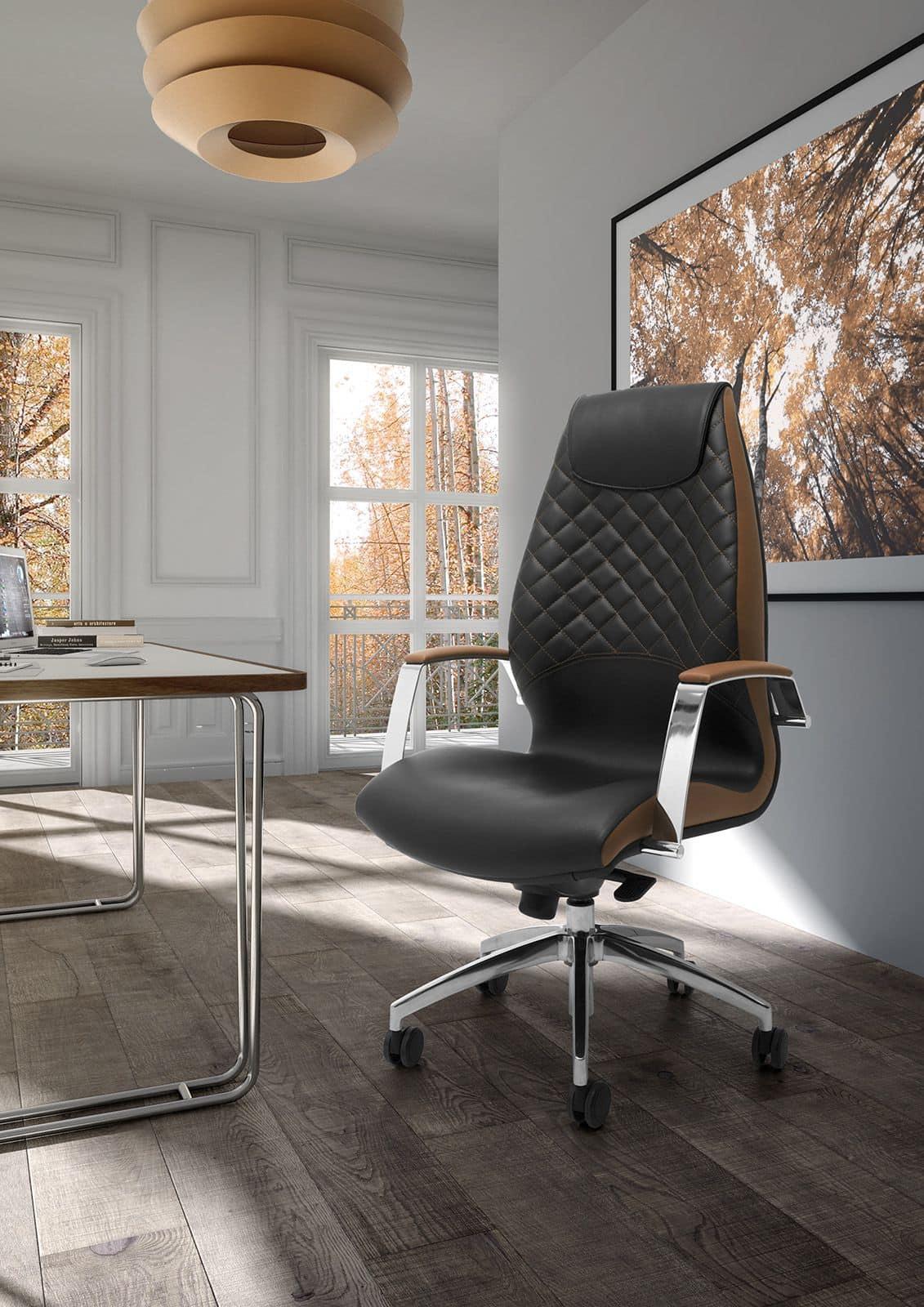 Poltrona presidenziale con rivestimento in pelle idfdesign for Rivestimento sedie