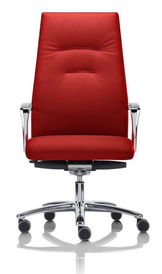Sedia direzionale con ruote e braccioli per ufficio for Negozi sedie ufficio