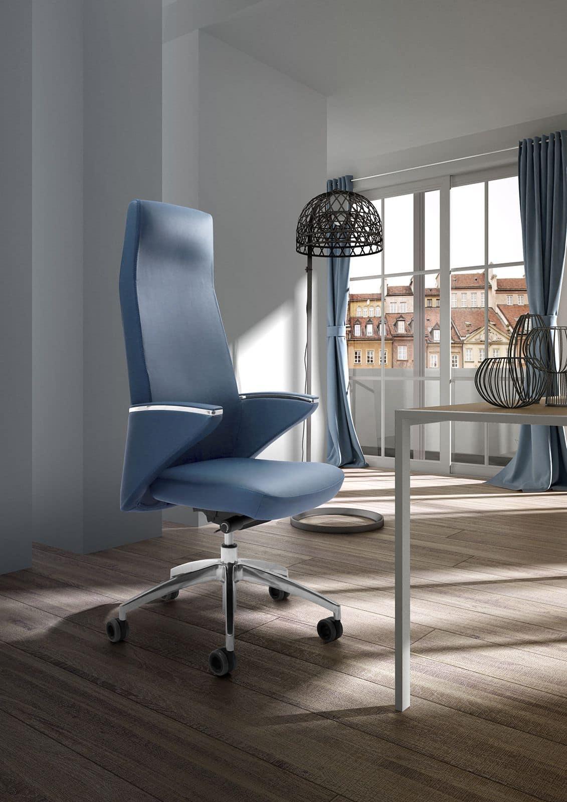 Poltrona direzionale per ufficio schienale capitonn for Ufficio direzionale design